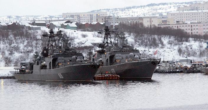 Navios russos em Severomorsk
