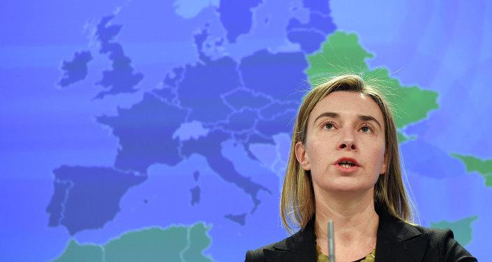 Chefe da diplomacia europeia Federica Mogherini