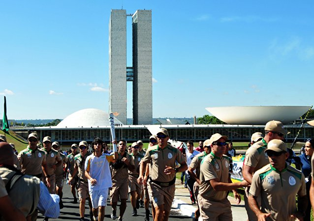 Tour da Tocha Olímpica em Brasília