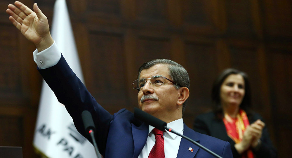 O primeiro-ministro da Turquia, Ahmet Davutoglu