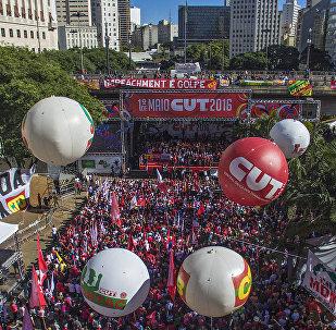 CUT participando de evento do Dia do Trabalhador em São Paulo (arquivo)