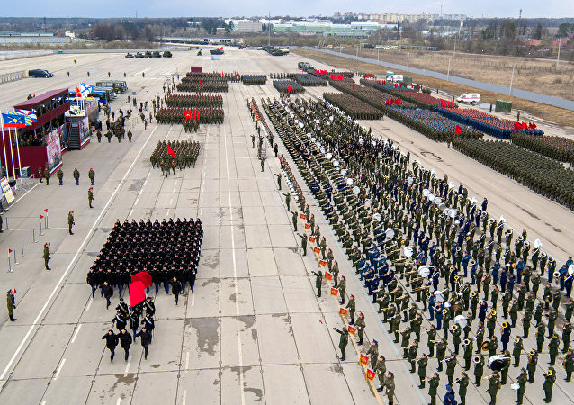 O ensaio da Parada da Vitória nos arredores de Moscou