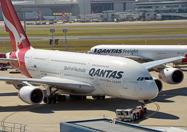 Avião da empresa australiana Qantas