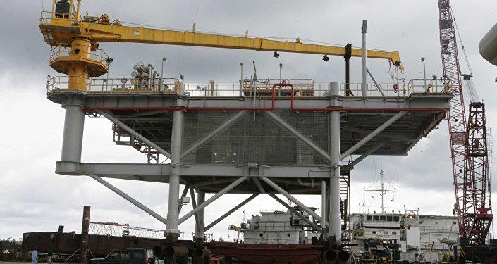Uma plataforma da Chevron na Nigéria