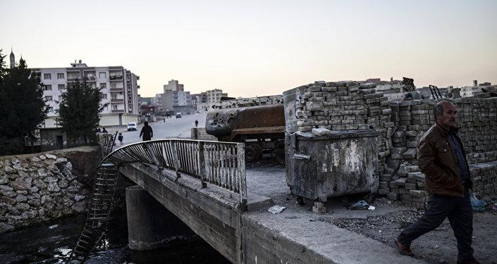 Ponte na entrada de Nusaybin