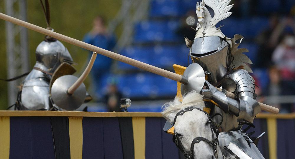 Torneio Medieval São Jorge, em Moscou