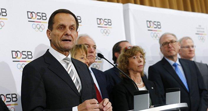 Alfons Hoermann, presidente do comitê olímpico alemão