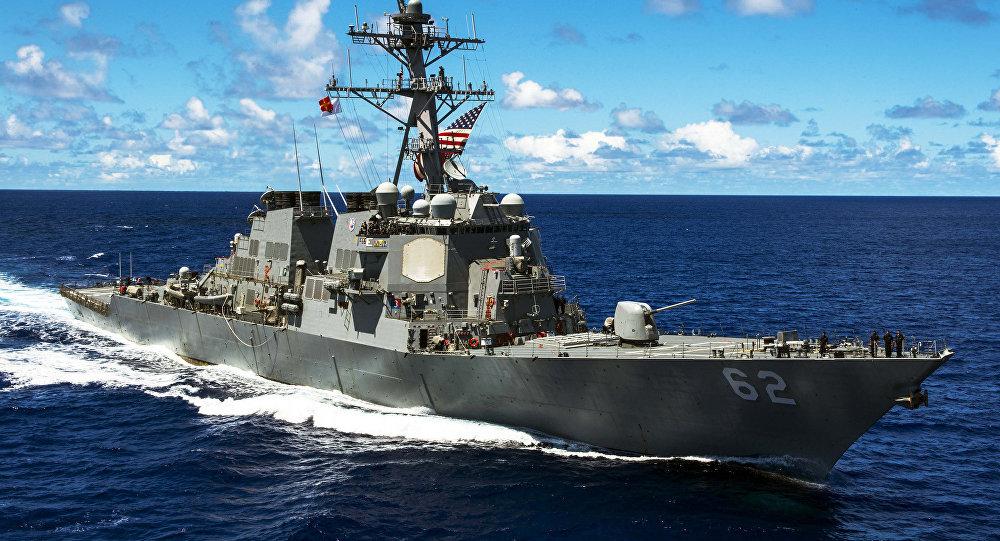 O navio de guerra estadunidense