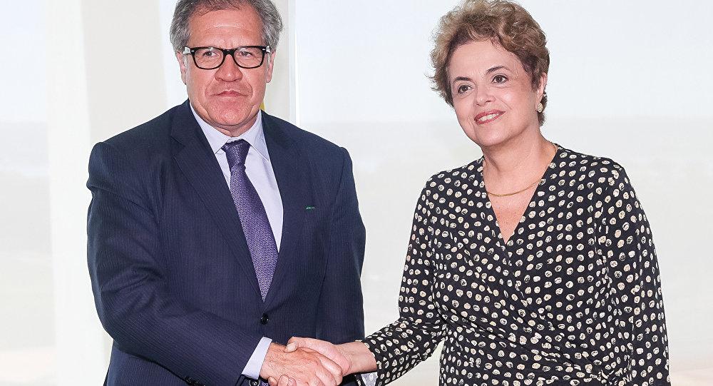 Dilma Rousseff recebe Luis Almagro, Secretário-Geral da Organização dos Estados Americanos - OEA