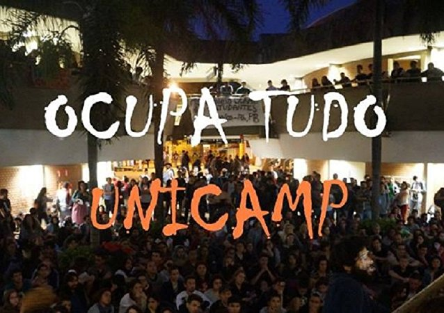 Cartaz do movimento OcupaTudo Unicamp