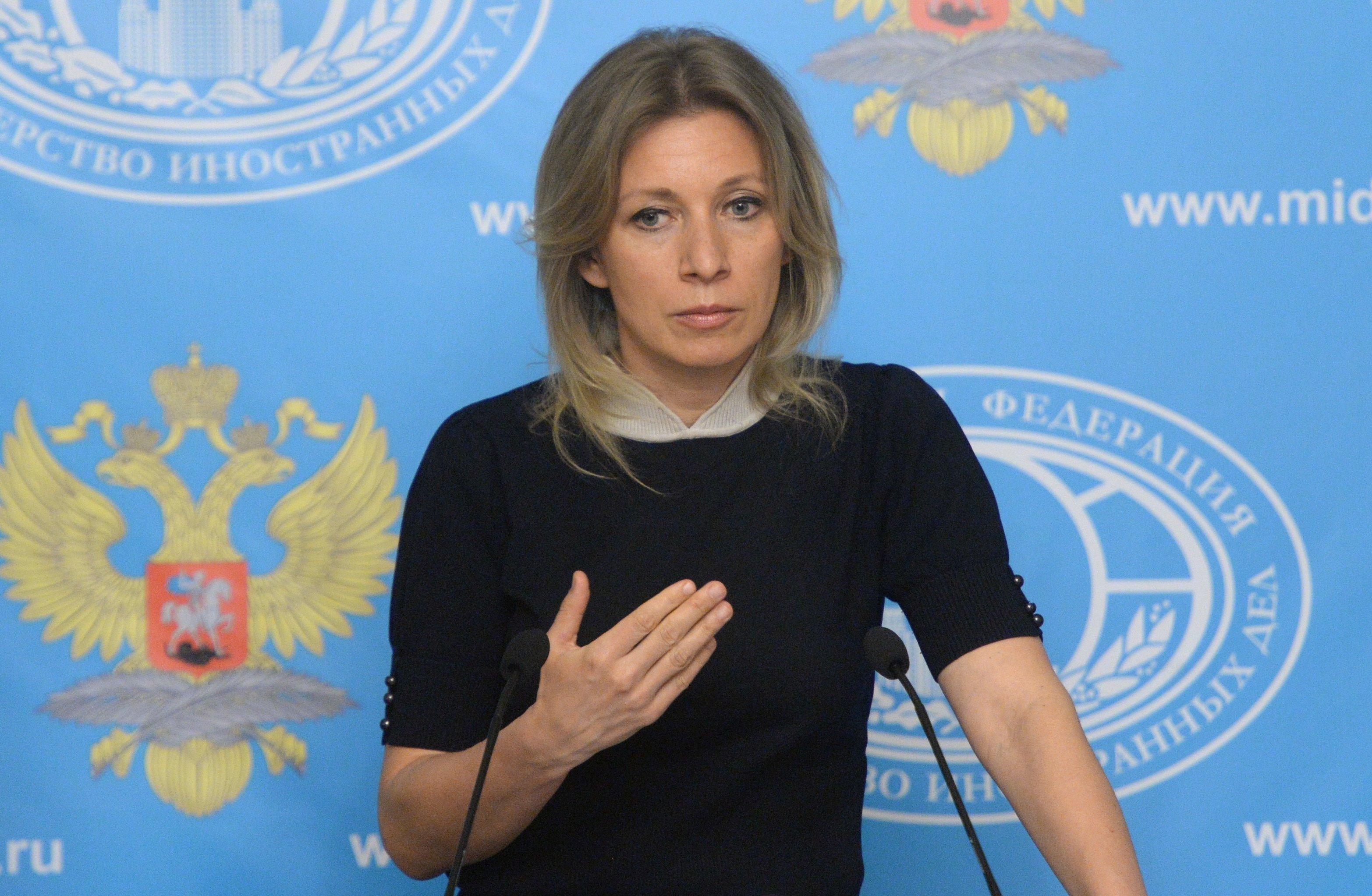 Representante oficial do Ministério das Relações Exteriores russo, Maria Zakharova, durante a entrevista coletiva semanal, Moscou, Rússia, 12 de maio de 2016