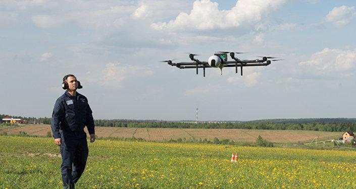 Voos demonstrativos de drones perto de Moscou