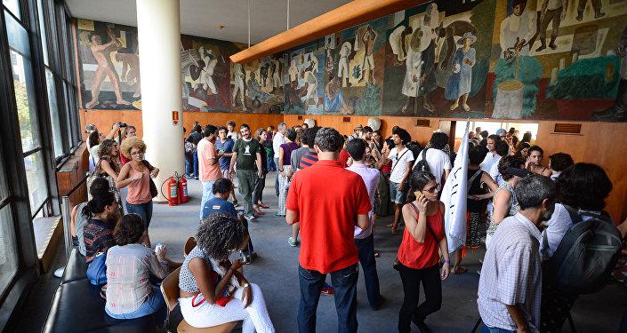 Ocupação do Edifício Gustavo Capanema, no Rio de Janeiro