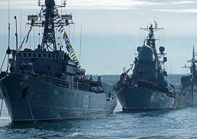 Os navios anti-minas da Rússia