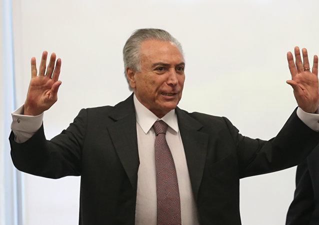 Michel Temer, presidente do Brasil, foi acusado em delação dos donos da JBS S.A.