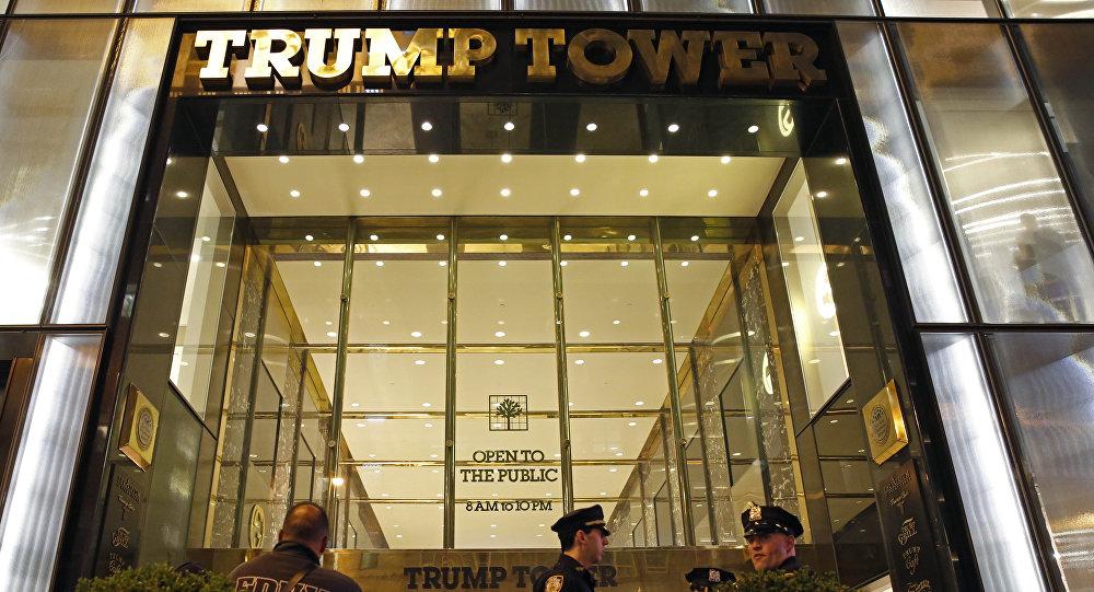 O prédio de torre de Trump