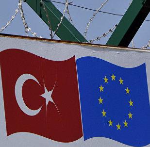 Bandeiras da Turquia e da UE