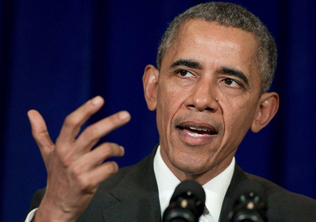Presidente dos EUA, Barack Obama, na Cúpula da Associação de Nações do Sudeste Asiático (ASEAN) em  Kuala Lumpur em 22 de novembro, 2015
