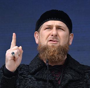 O líder interino da República de Chechênia Ramzan Kadyrov