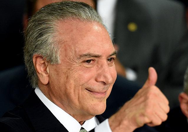 Presidente interino da República Federativa do Brasil Michel Temer