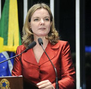 Senadora Gleisi Hoffmann, presidente nacional do PT (arquivo)