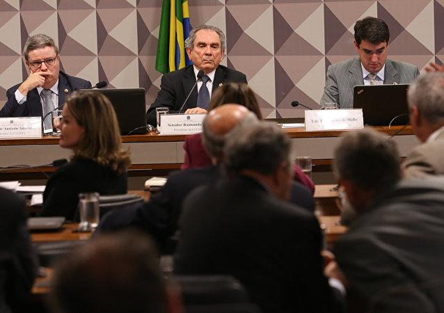 Reunião da comissão do impeachment no Senado