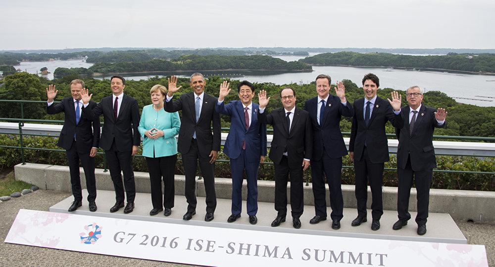 A reunião dos líderes do G7 no Parque Nacional Japonês, Ise-Shima, 26 de maio de 2016