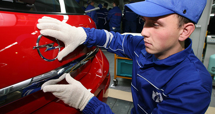 Fábrica de produção de automóveis Opel na Rússia