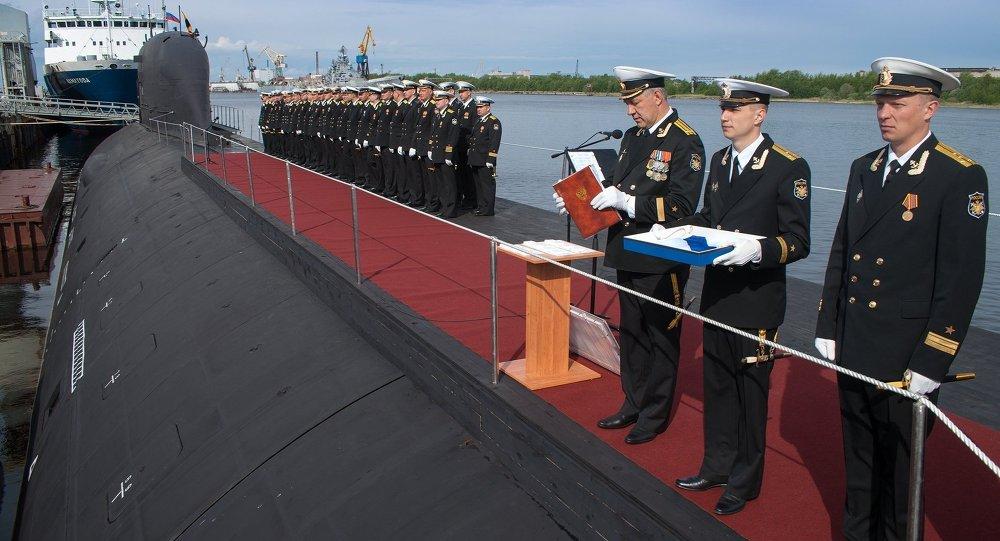 O primeiro submarino multifuncional Yasen SSBN entra no serviço da Marinha russa