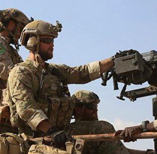 Soldados dos EUA atuando na Síria