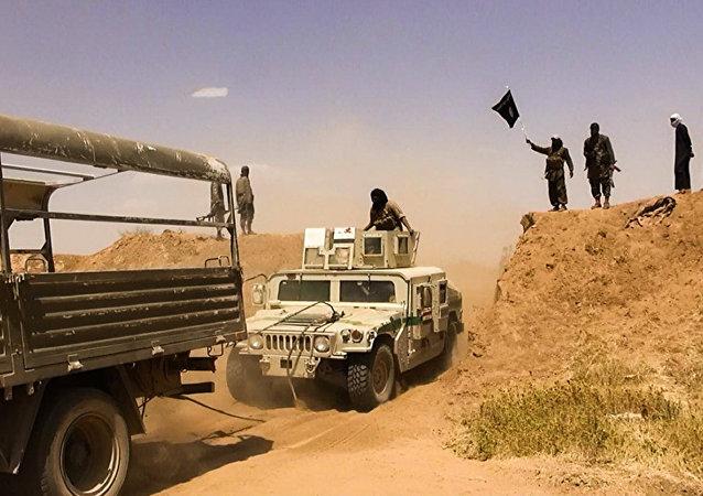 Militantes do Daesh na fronteira Síria-Iraque (arquivo)
