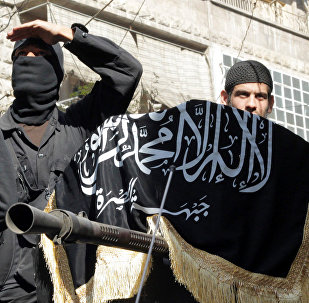 Integrantes do grupo jihadista Frente Nusra
