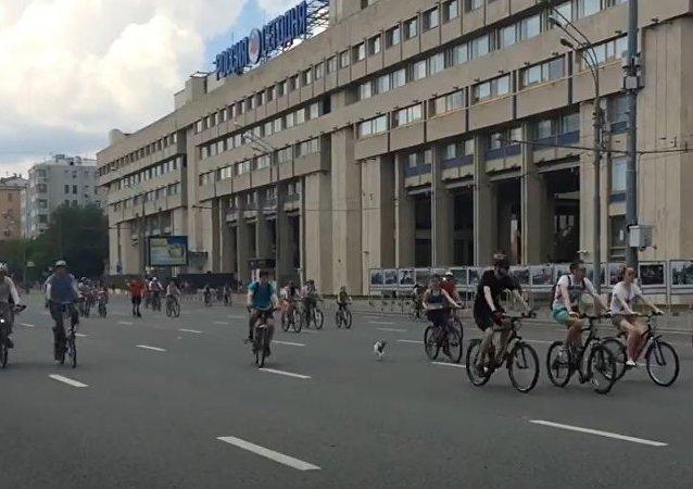 A maior corrida de ciclistas na Rússia
