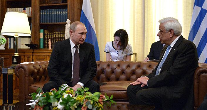 Vladimir Putin e Prokopis Pavlopoulos