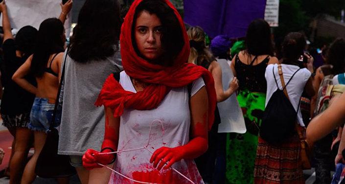 Protesto contra estupro coletivo no Rio de Janeiro