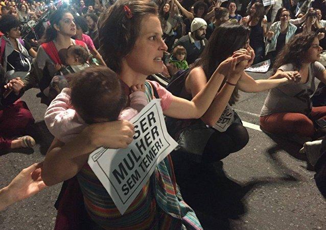 Mulheres protestam em ato Por Todas Elas contra a cultura do estupro – São Paulo, 01/06/2016