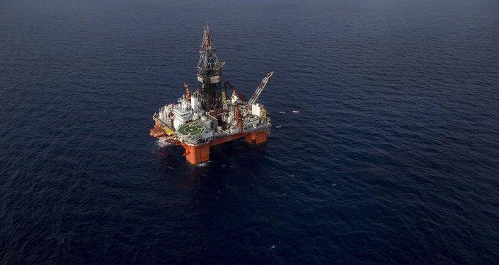 Plataforma de petróleo da Pemex, no Golfo do México