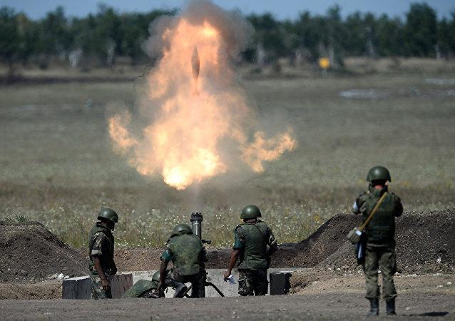 Competição de artilharia nos Jogos Militares Internacionais de 2015