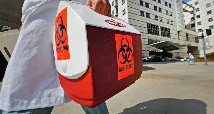 Material sobre risco biológico da escola médica UCLA