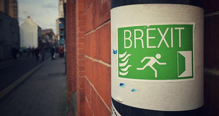 Cartaz de apoio à saída da Grã-Bretanha da União Europeia