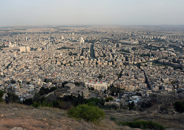 Vista de Damasco da montanha Qasioun