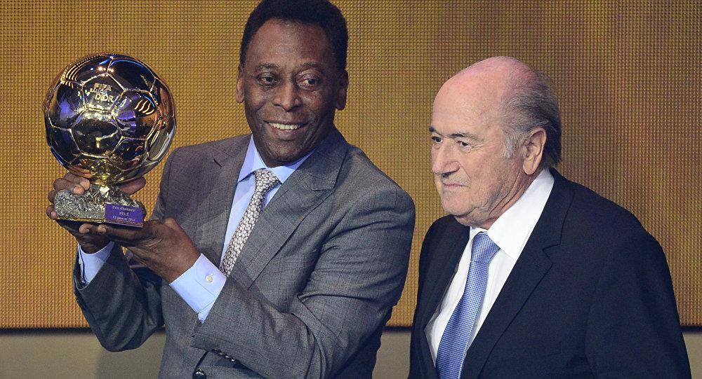 Pelé e Joseph Blatter