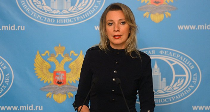 Representante oficial do Ministério das Relações Exteriores russo, Maria Zakharova, durante a entrevista coletiva semanal, Moscou, Rússia, 10 de junho de 2016