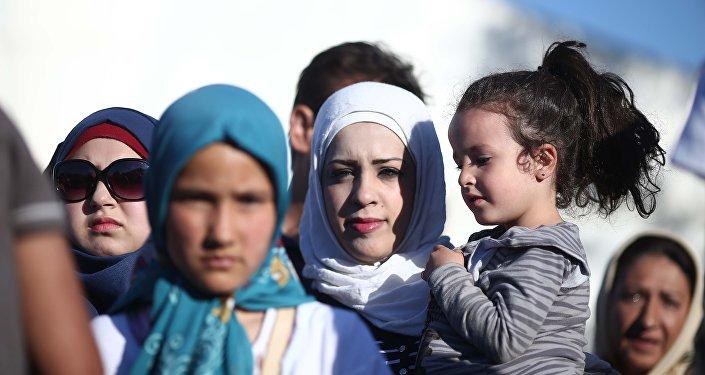 Campo de Refugiados em Atenas