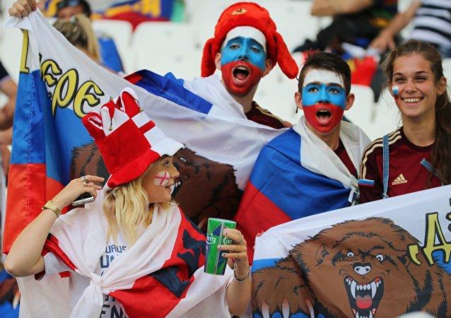 Torcedores russos na Eurocopa