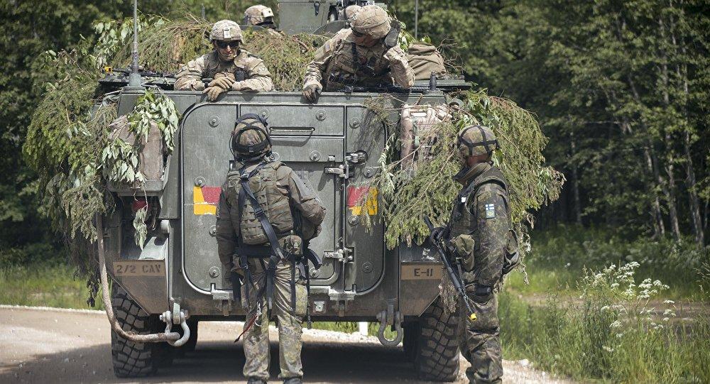Exercícios militares da OTAN Saber Strike 2016, na Estônia (imagem referencial)