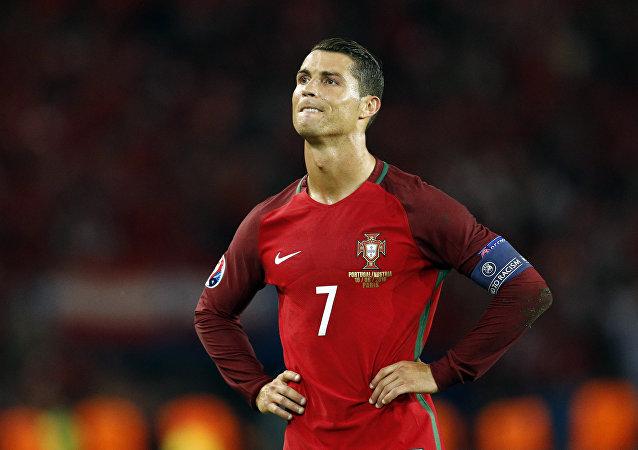 Cristiano Ronaldo após ter gol anulado contra a Áustria na Euro 2016