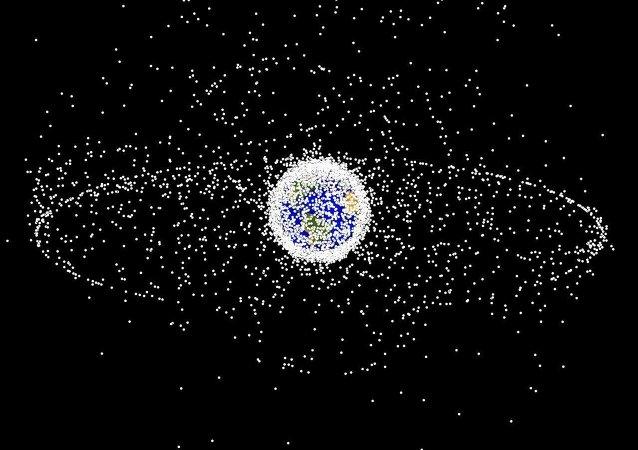 Lixo espacial em imagem gerada pela NASA