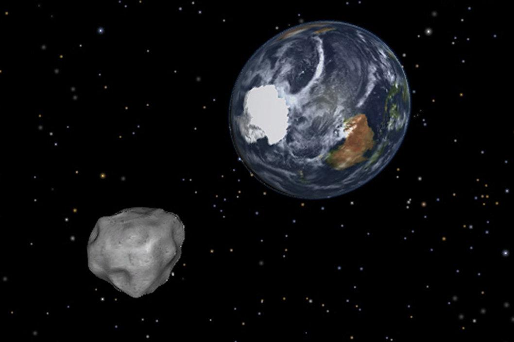 Simulação da aproximação de um asteroide