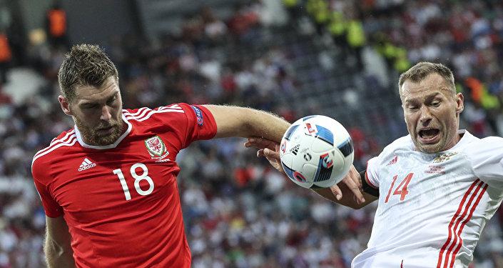 O jogo entre as seleções da Rússia e País de Gales na Eurocopa